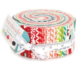 Sale Handmade jelly roll cotton fabric by Bonnie and Camille for Moda fabric