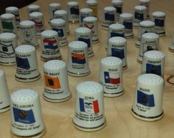 Porcelain Thimbles of United States FREE SHIPPING in the USA