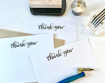"Hand Lettered ""Thank You"" Rubber Stamp"