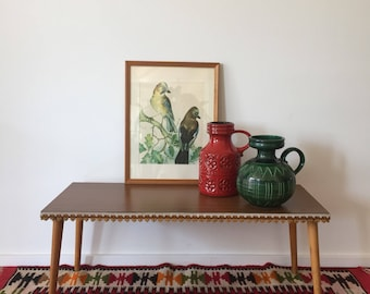 Mid century 60s flower bench side Table