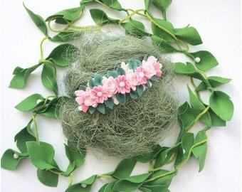feltflower headband felt headband flower headband