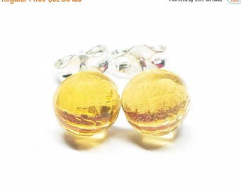 25% OFF AAA Citrine Gemstone . Small 6mm Round Dome . Sterling Silver Posts Studs Earrings . Yellow Minimalist Earrings . Free Shiping . E16