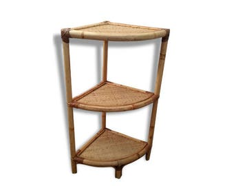 French vintage corner shelf accent table