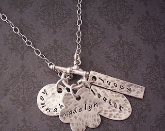 Hand Stamped Necklace - Personalized Jewelry - Wife Statement - Statement Jewelry - Gift for her - Bar Necklace - Say Anything Jewelry