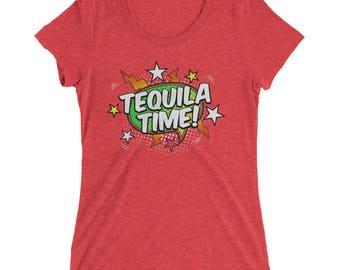 Ladies' Tequila Time t-shirt , tequila womens shirt, tequila t shirt, tequila gifts, tequila costume, tequila es mi amigo, tequila lovers