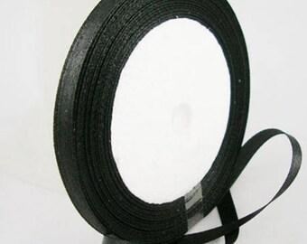The meter black satin ribbon