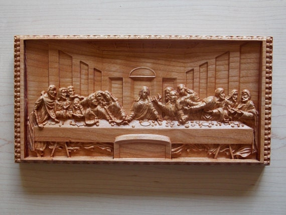 The Last Supper Jesus Wall Art Religious Gift 3d Carving