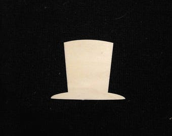 Laser Wood Top Hat Set of 12- Victorian Abraham Lincoln Crafting