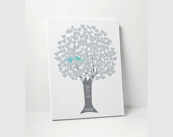 ANNIVERSARY GIFT: Personalized Canvas - Silver 25th Anniversary Gift Canvas Custom Made