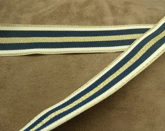 MILITARY Ribbon - 2.5 cm - Blue & gold