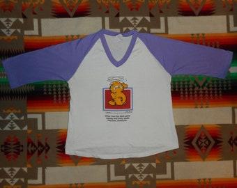 Garfield Jersey T Shirt Size M/L