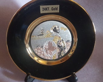The Art of Chokin Collector's Plate - 24 KT Gold Edged