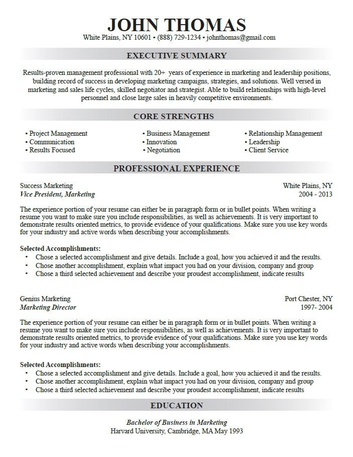 Custom resume writing usa