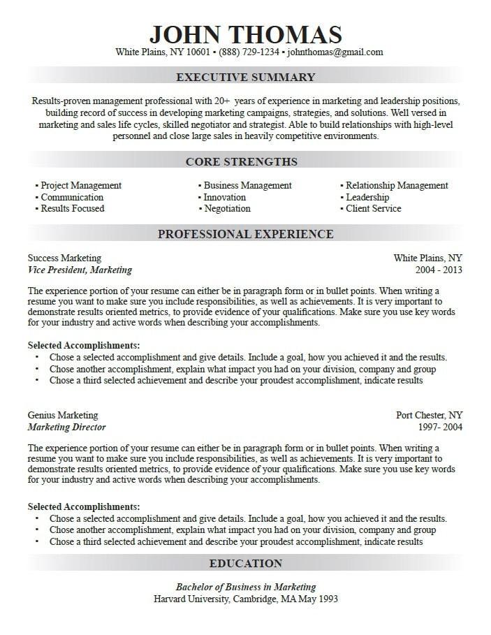 Custom resume writing professional