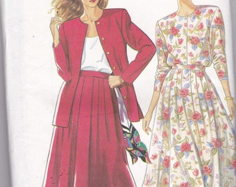 Simplicity 7368 Womens  Jacket and Flared Skirt Size 8,10,12,14,16,18,20 UNCUT