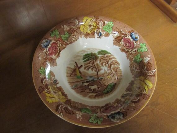 English Woodsware  bowl English Scenery