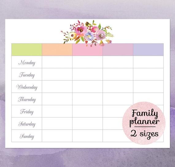 Family Calendar 2018 Printable : Family calendar planner printable wall