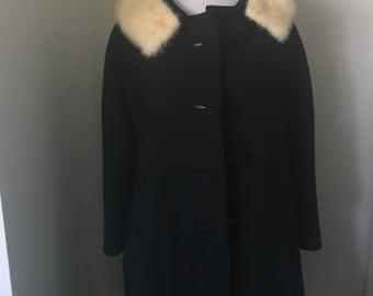 1950's Wool Coat with fur trim