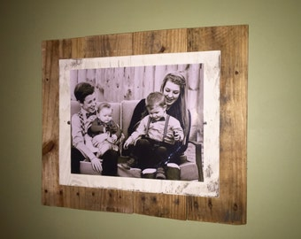Picture Frame - 11X14 Rustic Reclaimed Pallet Wood. Custom Frames.