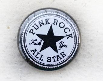 Punk Rock All Star 1 inch Button
