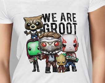 Women's Guardians of the Galaxy 2 We are Groot White T-shirt