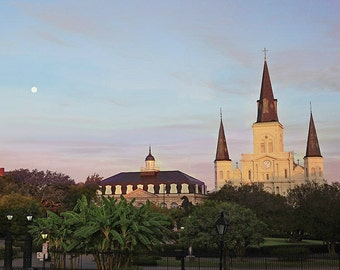New Orleans Fine Art Photograph, Jackson Square Print, Living Room Wall Decor, St. Louis Cathedral Wall Art, French Quarter Print, Louisiana