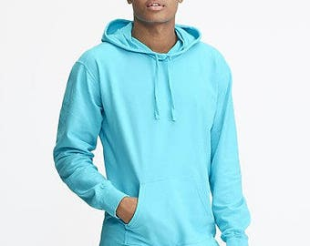 Comfort Colors French Terry Hoodie (Scuba Hood) With Jumbo VINYL Monogram