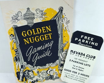 Vintage Las Vegas Golden Nugget Casino Paper Ephemera