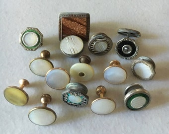 15 Assorted Vintage Antique Cufflink Singles For Your Unique Destash Steampunk Project