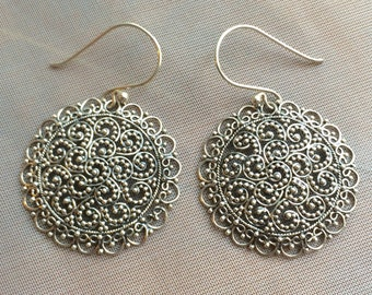 Balinese Sterling Silver Earrings