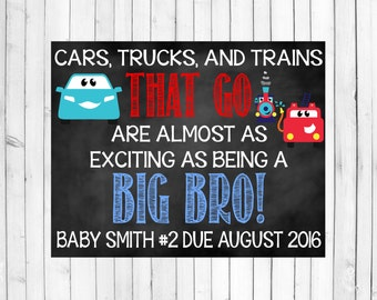 Big Brother Pregnancy Announcement | Big Brother Pregnancy Reveal | Big Brother Chalkboard Sign | Big Brother Chalkboard Poster