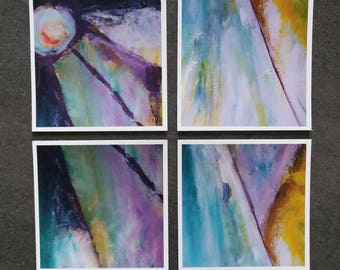 Original colorful art holiday  cards with energy love and kindness from angels