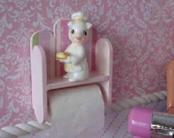 1:6 Shelf, Pig & Towel Holder for Blythe, Barbie, Fashion Royalty