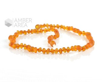 Baltic Amber necklace, Cognac Amber Color, Baroque Amber Beads, 44 m, 7940