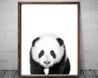 Panda Print, Panda Wall Print, Panda Nursery Decor, Panda Wall Decor, Panda Nursery Art, Print Art Animal, Panda Art Poster, Nursery Panda
