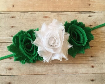 Baby Girl Headband, St Patricks Day, Green Baby Headband, Toddler Headband, Newborn Headband, Baby Hair Accessory, St Pattys Day