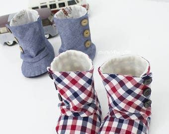 Toddler 3 Button Boots PDF Sewing Pattern Size 5,6,7 (#94)