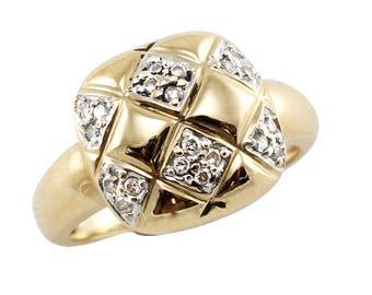 Diamond Checkerboard Ring