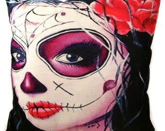 Día de Muertos - La Calavera Catrina - Decorative Throw Pillow - Day Of The Dead