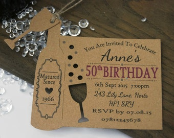 Elegant Of 50th Birthday Party Invitations Uk Templates Ideas Card. Etsy Your place to buy and sell all things handmade