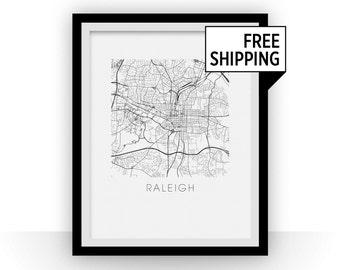 Raleigh Map Print