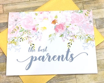 pregnancy announcement to parents - new grandparents pregnancy reveal card - baby card for mom and dad - new grandchild - GARDEN ROMANCE