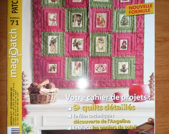 french magazine MAGIC PATCH N. 71 - 2007 - 9 detailed quilts to do