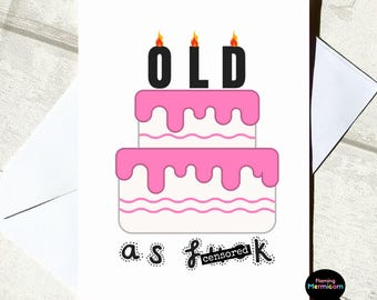 Attractive Adult Birthday Card | Funny Birthday Card, Rude Birthday Card, Old Card,  Cards