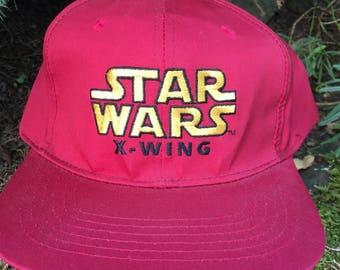 Vintage 1995 Star Wars X-Wing Snapback Hat