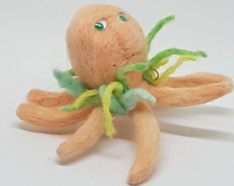 Occi The Octopus, Needle felted, Handmade, Soft sculpture