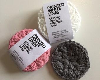 Face Scrubbies Crochet Set of 3 | Eco Friendly Face Scrubbie | Reusable Cotton Face Scrubbies | Zero Waste Face Scrubbies