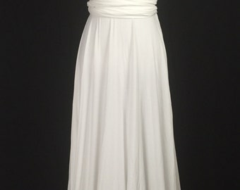 Ivory  Infinity Dress Convertible Formal,wrap dress ,bridesmaid dress,party dress Evening dress C39#B39#