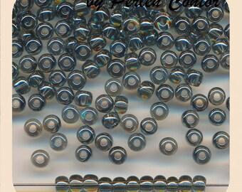 23 g glass Beads 4.0 mm 6/0 hematit grey transparent chandelier preciosa seed beads (AZ1170)