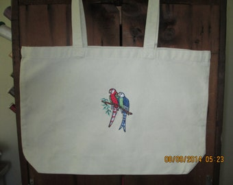 Tote Bag with Birds